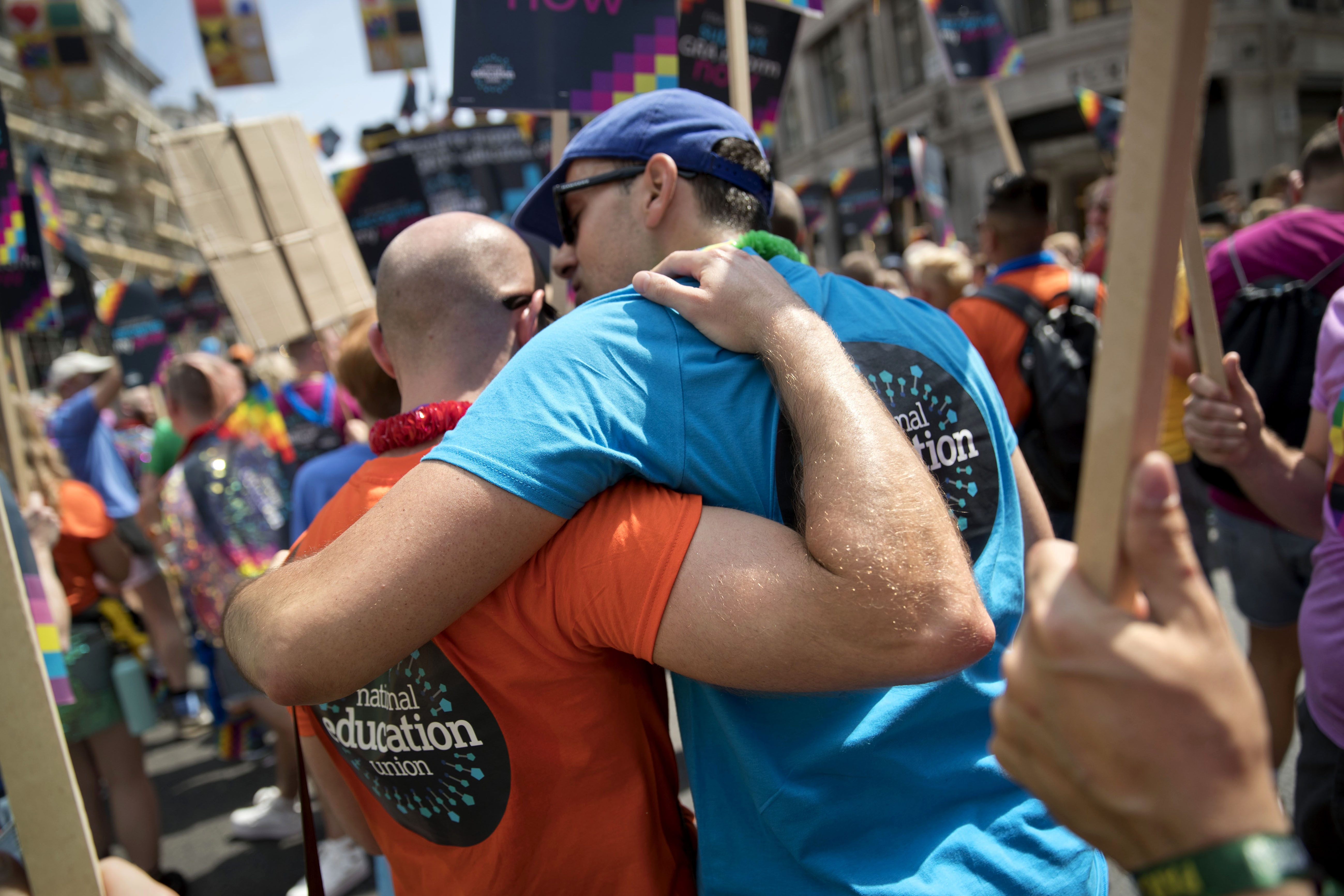 NEU t-shirts on show at Pride London