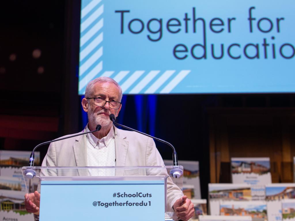 Jeremy Corbyn speaking at Together for Education
