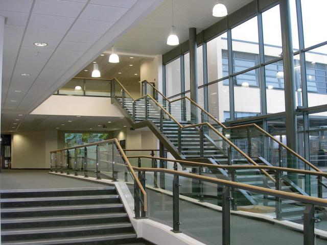 school stairs in a modern building