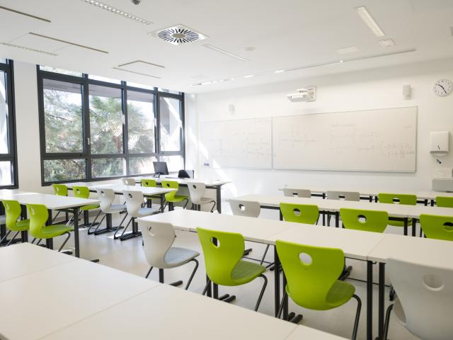 Contemporary Empty School Mathematics Classroom