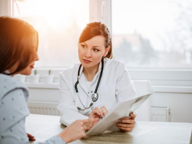 Patient in consultation with a doctor