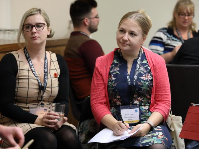young female members at conference