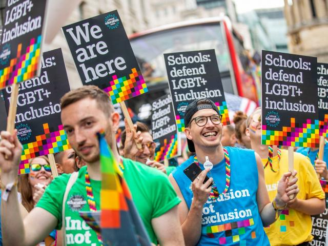 NEU members at Pride 2019