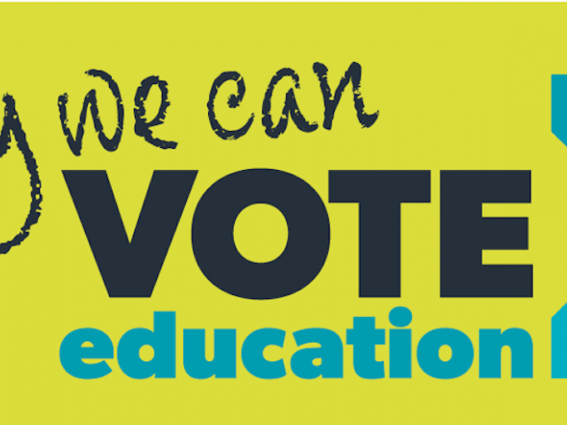 Today we can Vote Education banner