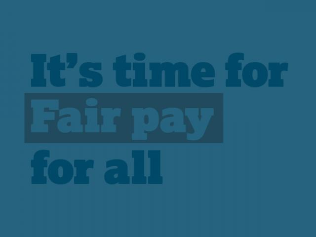 Fair pay for all pay campaign banner