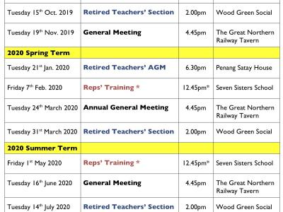 HARINGEY NEU MEETINGS & EVENTS